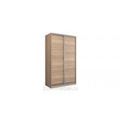 Шкаф-купе двухдверный 140 см (сонома/глухой)