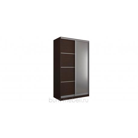 Шкаф-купе двухдверный 140 см (венге+зеркало)