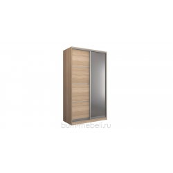 Шкаф-купе двухдверный 140 см (сонома+зеркало)