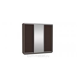 Шкаф-купе трехдверный 240 см (венге+зеркало)