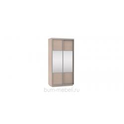 Шкаф-купе двухдверный 120 см (дуб молочный/комбинированный)