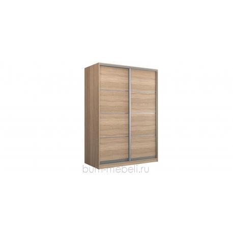 Шкаф-купе двухдверный 180 см (сонома/глухой)