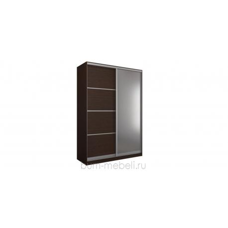 Шкаф-купе двухдверный 180 см (венге+зеркало)