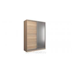 Шкаф-купе двухдверный 180 см (сонома+зеркало)