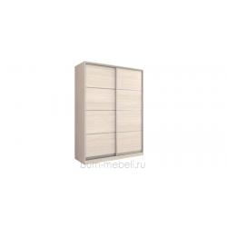 Шкаф-купе двухдверный 180 см (шамони светлый/глухой)