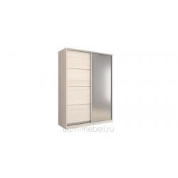 Шкаф-купе двухдверный 180 см (шамони светлый+зеркало)