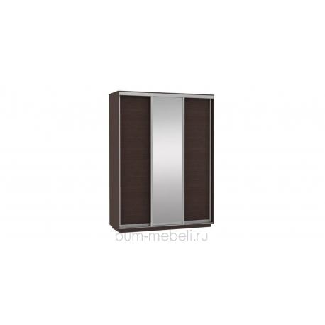 Шкаф-купе трехдверный 180 см (венге+зеркало)