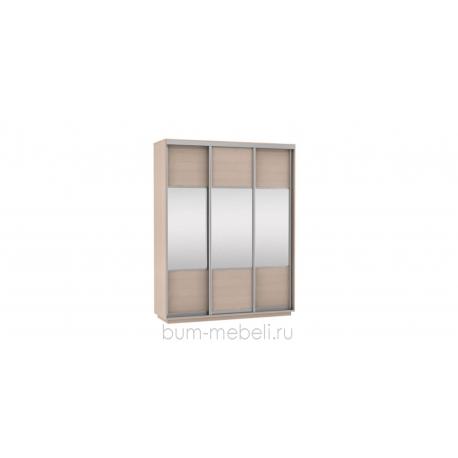 Шкаф-купе трехдверный 180 см (дуб молочный/комбинированный)