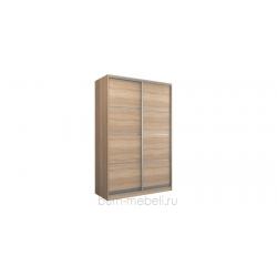 Шкаф-купе двухдверный 160 см (сонома/глухой)