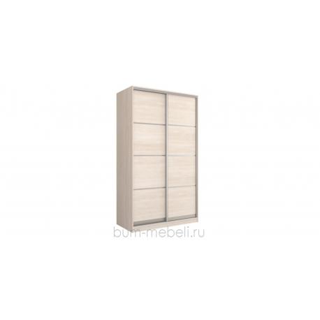 Шкаф-купе двухдверный 160 см (шамони светлый/глухой)
