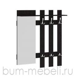 Вешалка с крючками и зеркалом арт.:111104